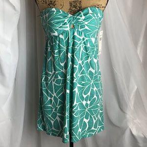 NWT Roxy Deep Blue Strapless Mini Dress